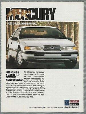 1989 MERCURY COUGAR advertisement, Ford-Lincoln-Mercury Cougar