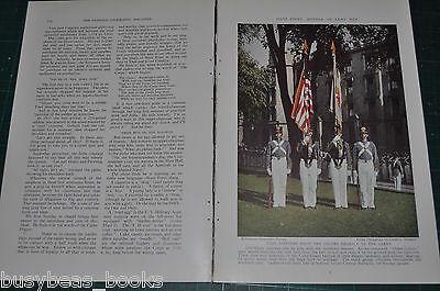 1936 magazine article WEST POINT United States Military Academy,  color photos
