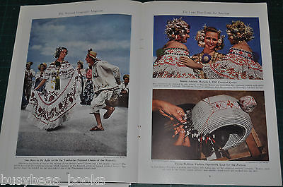 1941 PANAMA magazine article, people history geography Panama Canal color photos