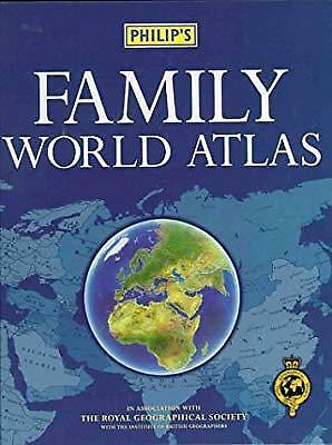 Philips Family World Atlas, Royal Geographical Society, The, Used; Good Book