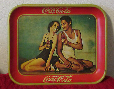 1974 Reproduction of a 1934 Coca Cola Tray Maureen O'Sullivan Johnny Weismuller