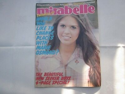 MIRABELLE MAGAZINE 24th Nov 1973 Marie Osmond cover incl. New Seekers