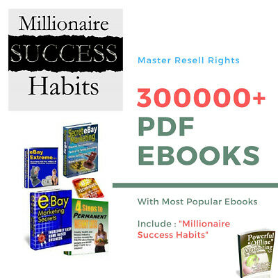 New 300000 PDF eBooks Package Collection With Master Resell Rights MRR PLR