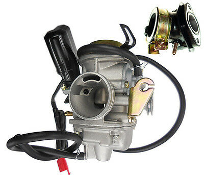 High Performance Carburetor Carb & Intake 26Mm For Chinese Gy6 150 Go Kart Buggy