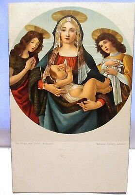 1910 Postcard The Virgin And Child, By Botticelli