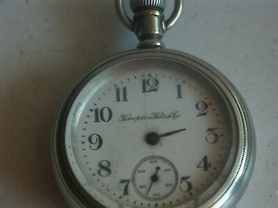 Hampden Pocket Watch 17J Swing Movement Case Watch Wants To Run Size 18