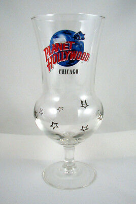 """Planet Hollywood """"CHICAGO""""- Hurricane Glass- 8 1/4 INCH"""