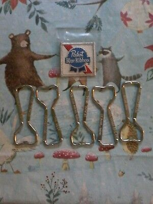Lot Of 5 Vintage Hamms Beer Bottle Openers & Pabst Beer Patch