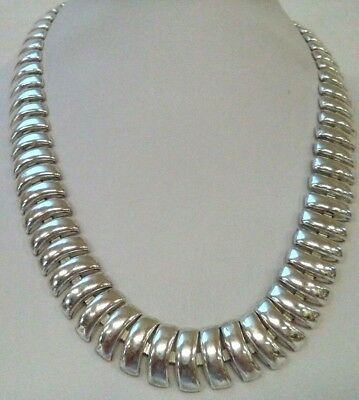 "Stunning Vintage Estate Signed Napier Silver Tone 19.5"" Necklace!!! 1835J"
