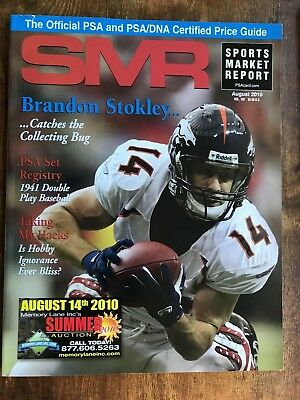 SMR Magazine Sports Market Report PSA August 2010 Brandon Stokely Denver Bronco