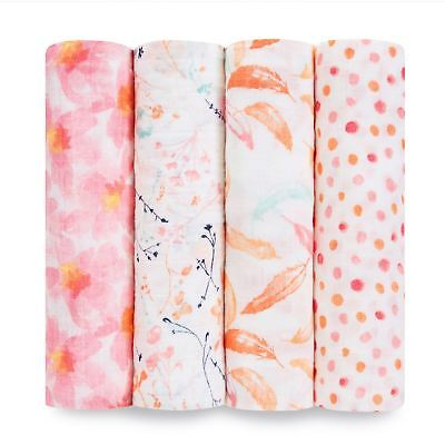 Aden + Anais CLASSIC SWADDLE - 4 PACK - PETAL BLOOMS Baby BN