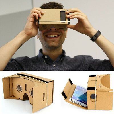 Virtual Reality Google Cardboard VR Headset Kit 3D with NFC Tag Lens