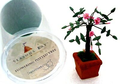 Dept. 56 Seasons Bay Potted Flowering Tree PINK Easter Spring Summer 53332 New