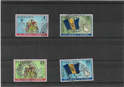 BARBADOS 1971  5th ANNIVERSARY OF INDEPENDENCE SET SG.436-439 FINE USED