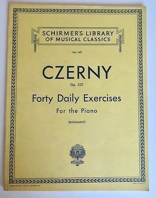 Carl Czerny: Forty Daily Exercises Op.337 Piano Sheet Music Instrumental Tutor