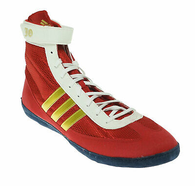 brand new 9cfcc 10a4d Adidas Men s Combat Speed 4b Wrestling Athletic Shoes Red Gold White Size 15