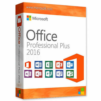 Microsoft Office Professional Plus 2016 Key Vollversion inkl.+ Download 1ATop**
