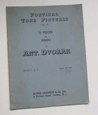 Dvorak Poetical Tone Pictures Op.85 13 pieces for piano book 2