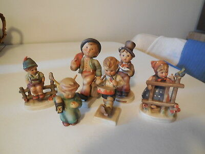 Lot of Eight Various Hummels, All As Found