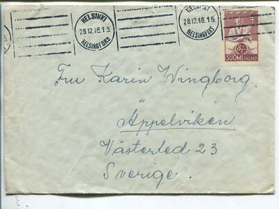 Finland cover to Sweden 1946