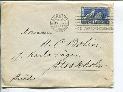 France cover to Sweden 1925