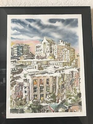 Watercolor Painting of Greenville SC - Original not a Print - Renown Local Art