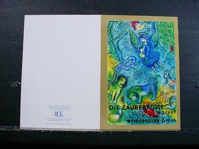 NobleSpirit NO RESERVE {3970}Marc Chagall Signature on Met Opera Greeting Card