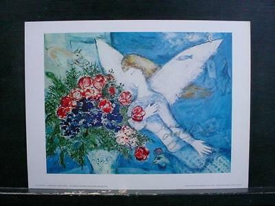 """NobleSpirit NO RESERVE {3970}""""The Blue Angel"""" Print Signed by Marc Chagall"""