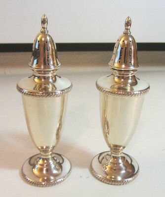 SOLID 94 grams Sterling Silver Salt & Pepper Shakers Hallmarked - Not Weighted