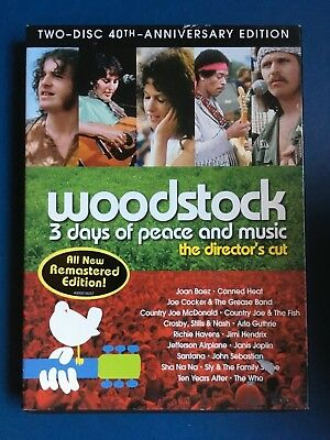 Woodstock 3 Days of Peace and Music / The Director's Cut / Very Good DVD 32218