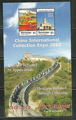 Cook Islands 1475 Mnh S/s China 2013 International Collections Expo Scv 6.75