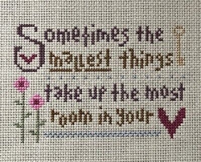 Finished Lizzie Kate cross stitch....The Smallest Things