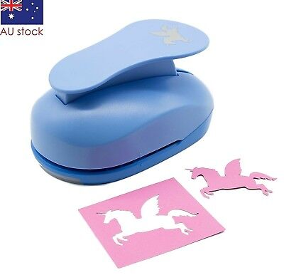 "Unicorn paper punch 3"" 7.5cm blue XXL craft scrapbooking card making wedding"