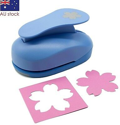 "Flower paper punch 3"" 7.5cm XXL craft punches scrapbooking card making wedding"