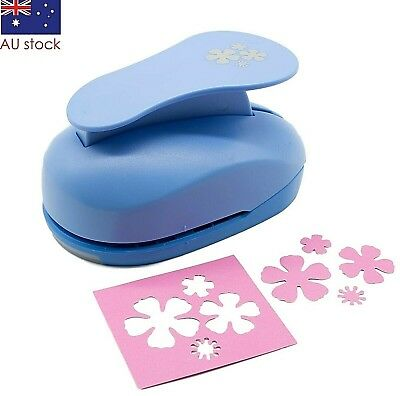 "Flowers paper punch 3"" 7.5cm XXL craft punches scrapbooking cardmaking wedding"