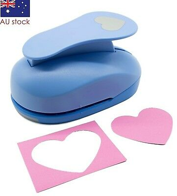 "Heart paper punch 3"" 7.5cm XXL craft punches scrapbooking card making wedding"