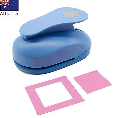 "Square paper punch 3"" 7cm XXL craft punches"