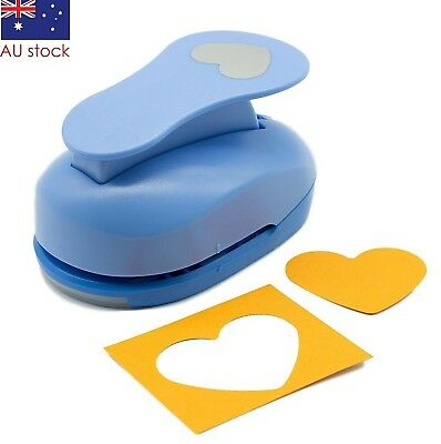 "Heart paper punch 2"" 5cm XL craft punches scrapbooking card making wedding"