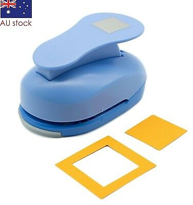 "Square paper punch 2"" (5cm) XL craft punches scrapbooking card making wedding"