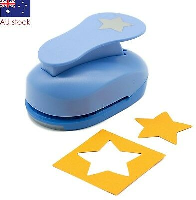 """Star paper punch 2"""" (5cm) XL craft punches scrapbooking card making wedding"""