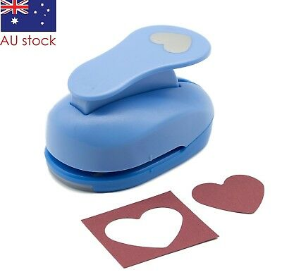 "Heart paper punch 1.5"" 3.8cm blue craft punches scrapbooking cardmaking wedding"