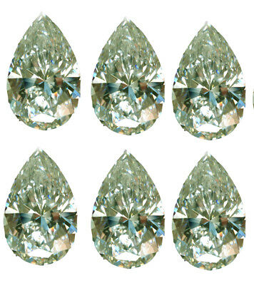 5.45ct (VVS1)7Pc/0.60-0.90ct ice blue WHITE COLOR LOOSE PEAR MOISSANITE -RING