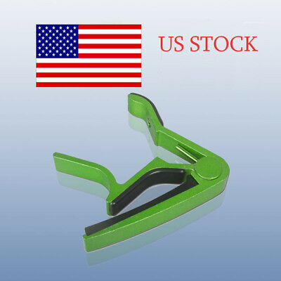 Donner Green Metal Spring Guitar Key Capo For Electric Acoustic Guitar US STOCK