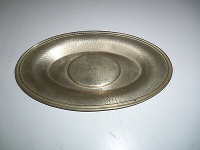 Vintage Hand-Hammered Tray Dish SILVERCRAFT F.P.N.S. Silverplate 5.5x9.5 inches