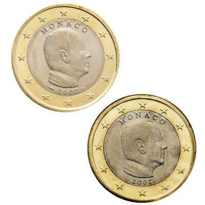 Monaco 2x 1 ST Albert II in Set with without Pessac Mint mint mark