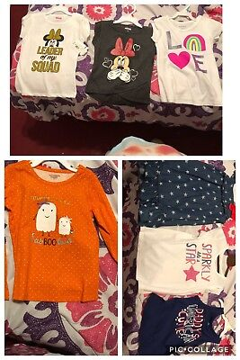 Girls 4t Clothes All Brand New 1 Dress 6 Shirts