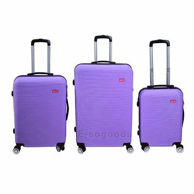 3 PCS Luggage Travel Set Bag Trolley Suitcase with Lock 360° Spinner Wheels  #1