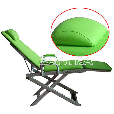 Dental Surgical Portable Folding Chair Green Color DHL Fast Shipping
