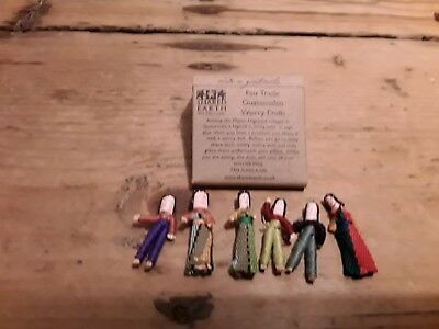 Worry dolls x6 in packet tiny   guatamala fair trade hand made not for children