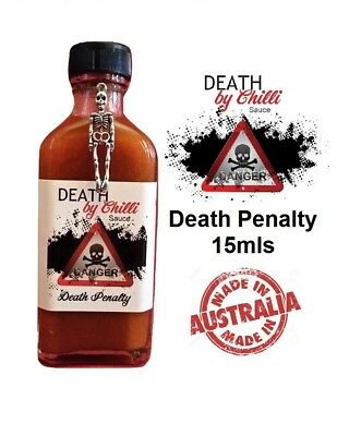 Death by Chilli Sauce - Death Penalty 15mls - Great Taste & Extreme Heat